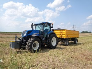 New Holland T7.165S & Wielton 12 ton