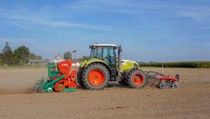 Claas Arion 640 + Agromasz SN 300 + Landtechnik Dragon 300