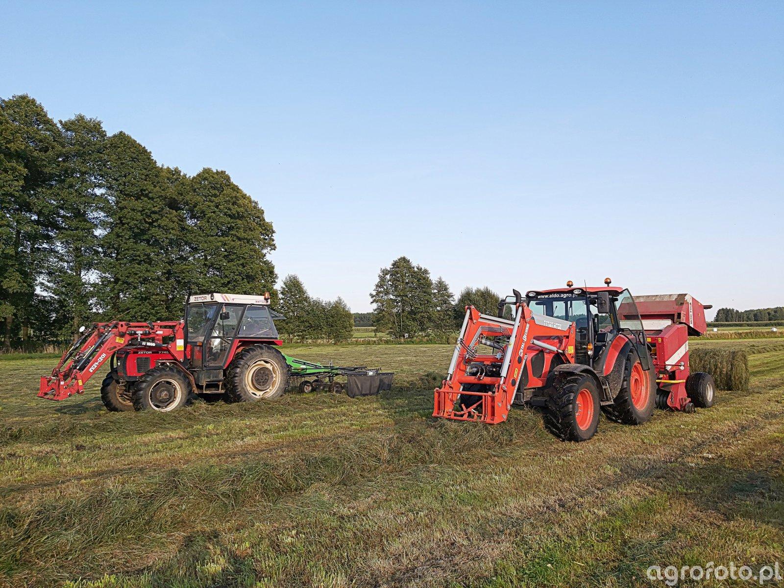 Zetor 7745 + Deutz Fahr & Kubota M5091 + Metal Fach