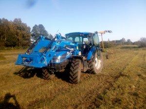 New Holland T 5.85 & samasz z 350